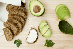Avocado toast Royalty Free Stock Photography