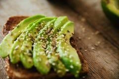 Avocado Toast royalty free stock photo