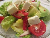 Avocado Tomato Feta Cheese Green Salad Stock Image