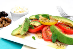Avocado And Tomato Salad Stock Images