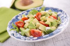 Avocado and tomato salad Royalty Free Stock Images
