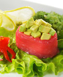 Avocado with Tuna Sushi Royalty Free Stock Photography