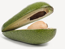 Avocado from two half Stock Images