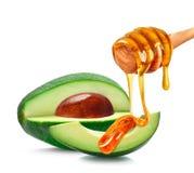 Avocado und Honig Stockfoto