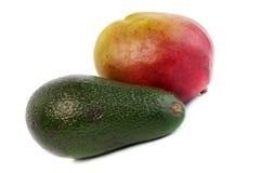 Avocado und Mangofrucht Lizenzfreie Stockfotos