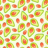Avocado vector pattern. Seamless vector pattern with avocado Royalty Free Stock Images