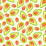 Avocado vectorpatroon vector illustratie