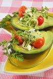 Avocado vegetable stuffing Royalty Free Stock Photo