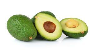 Avocado on white background Stock Photos