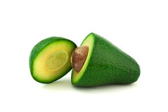Avocado on white background Royalty Free Stock Photos