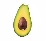 Avocado on white background stock photos