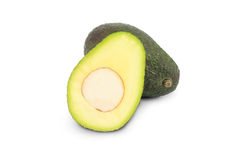 Avocado on white Stock Photos