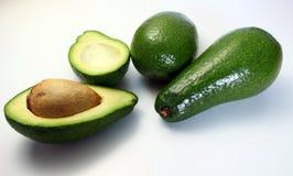 Avocado, witte achtergrond royalty-vrije stock foto