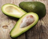 Avocado on Wood Royalty Free Stock Photography