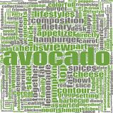 Avocado word cloud royalty free illustration