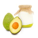 Avocado yogurt Royalty Free Stock Photography
