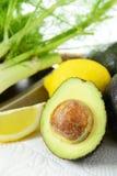Avocado z cytryną Fotografia Stock