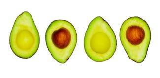 Avocado z ziarnem odizolowywającym na białym tle Źródło omega 3 od naturalnego jedzenia Zdrowy jedzenie dla dziecka Przyrodni kaw zdjęcie royalty free