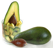 Avocadoform Lizenzfreies Stockfoto