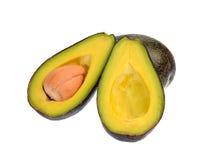 Avocadofruit op een witte achtergrond wordt geïsoleerd die Royalty-vrije Stock Foto