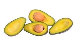 Avocadofruit op witte achtergrond wordt geïsoleerd die Royalty-vrije Stock Afbeelding