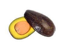 Avocadofruit op witte achtergrond wordt geïsoleerd die Royalty-vrije Stock Afbeeldingen