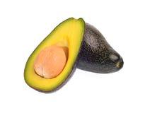 Avocadofruit op witte achtergrond wordt geïsoleerd die Stock Afbeeldingen