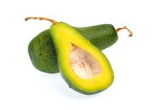 Avocadofruit op witte achtergrond wordt geïsoleerd die Royalty-vrije Stock Foto