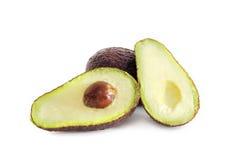Avocadofruit op witte achtergrond wordt geïsoleerd die Stock Foto