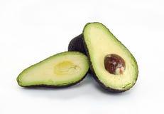 Avocadofruit op witte achtergrond wordt geïsoleerd die Stock Fotografie