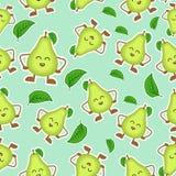 Avocadofruit, patroonontwerp Maak matig glad - Vector stock illustratie