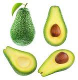 Avocadoinzameling royalty-vrije stock foto's