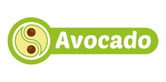 Avocadologo vektor abbildung