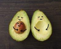 Avocadoouder met een baby en zonder Stock Afbeeldingen