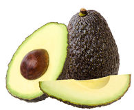 Avocados auf einem weißen Hintergrund Lizenzfreie Stockfotos