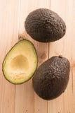 Avocados dwa i połówka Obraz Royalty Free