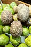 Avocados in the fruit market Royalty Free Stock Image