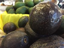 Avocados at fruit market Royalty Free Stock Photo
