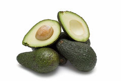 Avocados for the guacamole. stock images