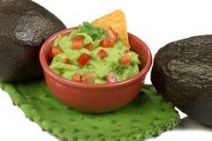 Avocados and Guacamole. Royalty Free Stock Photos