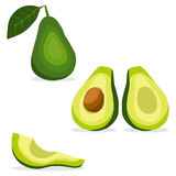 Avocados. Icon. Flat design, illustration royalty free illustration