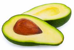 Avocados isolated on a white background. Avocados isolated on the white background Royalty Free Stock Photo