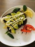 Avocadosandwich Stockbilder