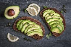 Avocadosandwich Lizenzfreies Stockfoto