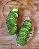 Avocadotoost stock foto
