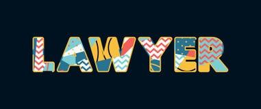 Avocat Concept Word Art Illustration illustration de vecteur