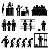 Avocat de prison de prison de loi de juge de cour Photos libres de droits
