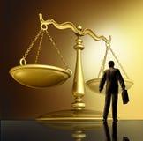 Avocat et la loi Image libre de droits