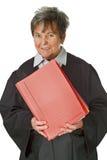 Avocat féminin avec le fichier de cour Photographie stock