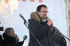 Avocat Pussy Riot Nikolai Polozov Photo libre de droits